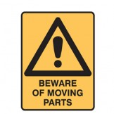 Beware Of Moving Parts W/Picto