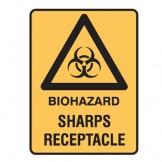 Biohazard Sharps Receptacle W/Picto