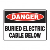 Buried Electric Cable Below