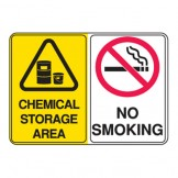 Chemical Storage Area / No Smoking