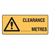 Clearance ... Metres