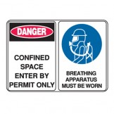 Confined Space Enter By Permit Only Breathing Apparatus Must Be..
