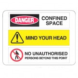 Confined Space / Mind Your Head / No Unauthorised Persons