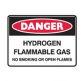 Hydrogen Flammable Gas No Smoking Or Open Flames
