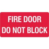 Fire Equipment Signs - Fire Door Do Not Block