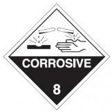 Dangerous Goods Labels & Placards - Corrosive 8