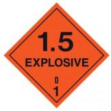 Dangerous Goods Labels & Placards - Explosive 1.5