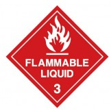 Dangerous Goods Labels & Placards - Flammable Liquid 3 (White & Red )
