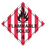 Dangerous Goods Labels & Placards - Flammable Solid 4