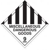 Dangerous Goods Labels & Placards - Miscellaneous Dangerous Goods 9
