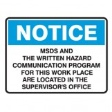 Dangerous Goods Signs - Notice Sign MSDS And The Written Hazards Communication Program