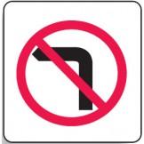Direct No Left Turn Sign 600x600mm C2 Ref Aluminium