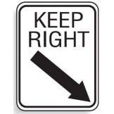 Directional Keep Right Sign