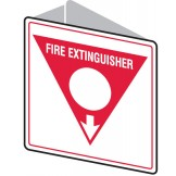 Double sided Sign - Fire Extinguisher Arrow Down