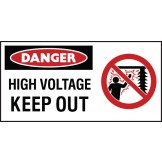 Electrical Hazard High Voltage Keep Out + Symbol