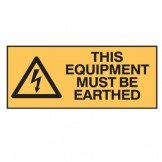 Electrical Hazard This Equipment Must Be Earthed