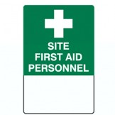 Emergency Info Signs - Site First Aid Personnel