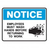 Employees Must Wash Hands Before Retuning To Work
