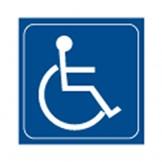 Engraved Disabled Symbol