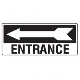 Entrance W/Left Arrow