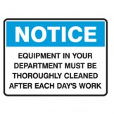 Equipment In Your Department Must Be Thoroughly Cleaned