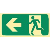 Exit & Evacuation Signs - Arrow Left (Wth Picto)