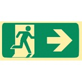Exit & Evacuation Signs - Arrow Right (Wth Picto)