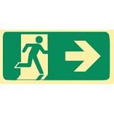 Exit & Evacuation Signs - Arrow Right (Wth Picto)