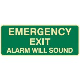 Exit & Evacuation Signs - Emergency Exit Alarm Will Sound