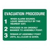 Exit & Evacuation Signs - Evacuation Procedure
