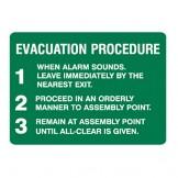 Exit & Evacuation Signs - Evacuation Procedure