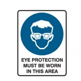 Eye Protectection Must Be Worn