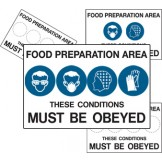 Multiple Condition Food Safety Sign