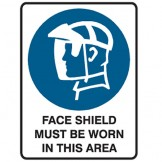 Face Shield Must Be Worn In This Area - Ultra Tuff Signs