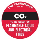 Fire Equipment Disc - CO2