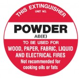 Fire Equipment Disc - Powder AB(E)