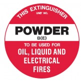 Fire Equipment Disc - Powder B(E)