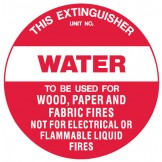 Fire Equipment Disc - Water