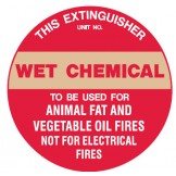 Fire Equipment Disc - Wet Chemical