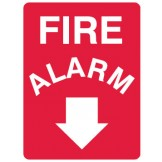 Fire Equipment Signs - Fire Alarm Arrow Down