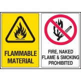 Flammable Material / Fire, Naked Flame And Smoking Prohibited