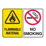Flammable Material / No Smoking