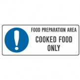 Food Preparation Cooked Food Only
