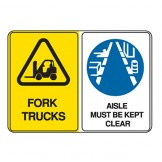 Forklift Trucks / Aisle Must Be Kept Clear