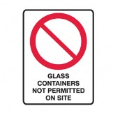 Glass Containers Not Permitted On Site