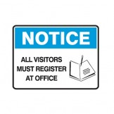 Graphic All Visitors Must Register At Office