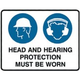 Head And Hearing Protection Must Be Worn