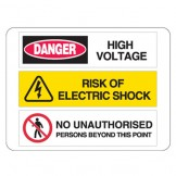 High Voltage / Riak Of Electric Shock / No Unauthorised Persons