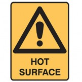 Hot Surface W/Picto - Ultra Tuff Signs