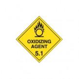 Dangerous Goods Labels & Placards - Oxidizing Agent 5.1